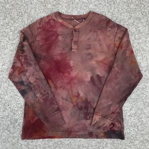 Rough & Tumble Vintage Tie Dyed Henley Shirt